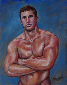 "MARC DEBAUCH (American), Mansweat, 2006, Oil on canvas, 12"" x 9"""