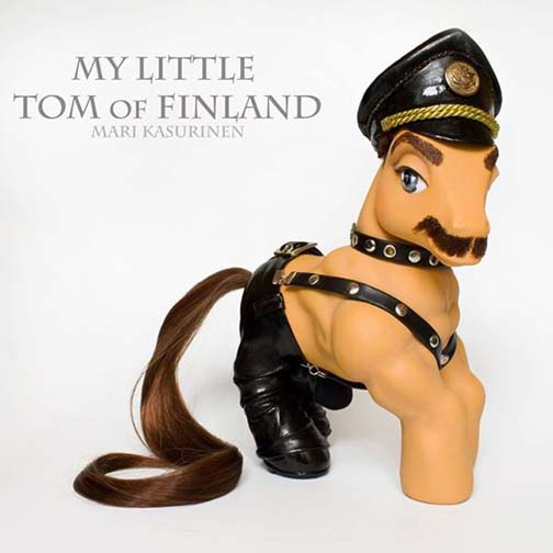 My Little Tom of Finland sculpture by Mari Kasurinen